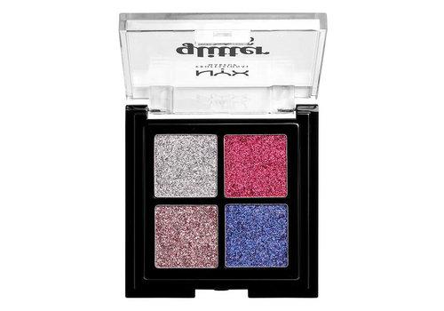 NYX Professional Make Up Glitter Goals Cream Quad Palette Love on Top