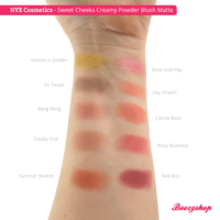 NYX Professional Makeup Sweet Cheeks Creamy Powder Blush Matte So Taupe