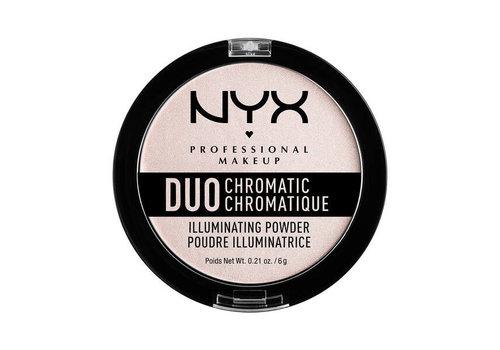 NYX Professional Makeup Duo Chromatic Illuminating Powder Snow Rose