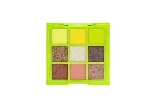 W7 Cosmetics Vivid Pressed Eyeshadow Palette Glowin Green