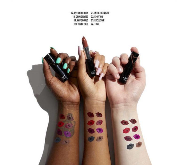 NYX Professional Makeup Shout Loud Satin Lipstick Wife Goals