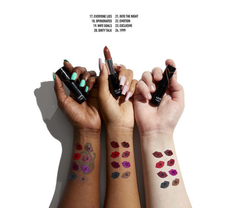 NYX Professional Makeup Shout Loud Satin Lipstick Everyone Lies
