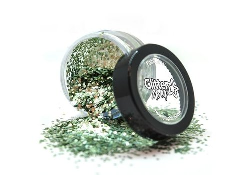 PaintGlow Bio Degradable Sparkle Glitter Bio Green