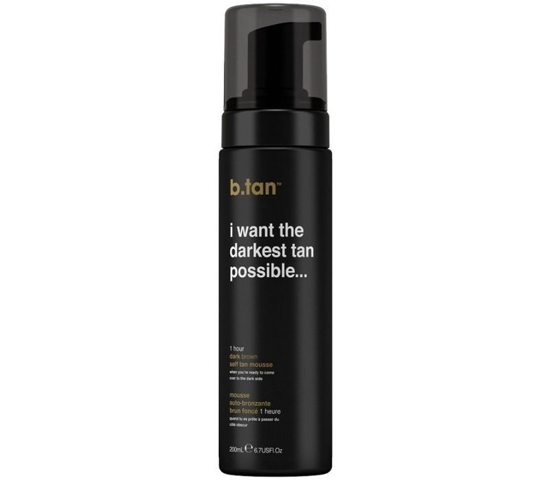 B.Tan I Want The Darkest Tan Possible Self Tan Mousse
