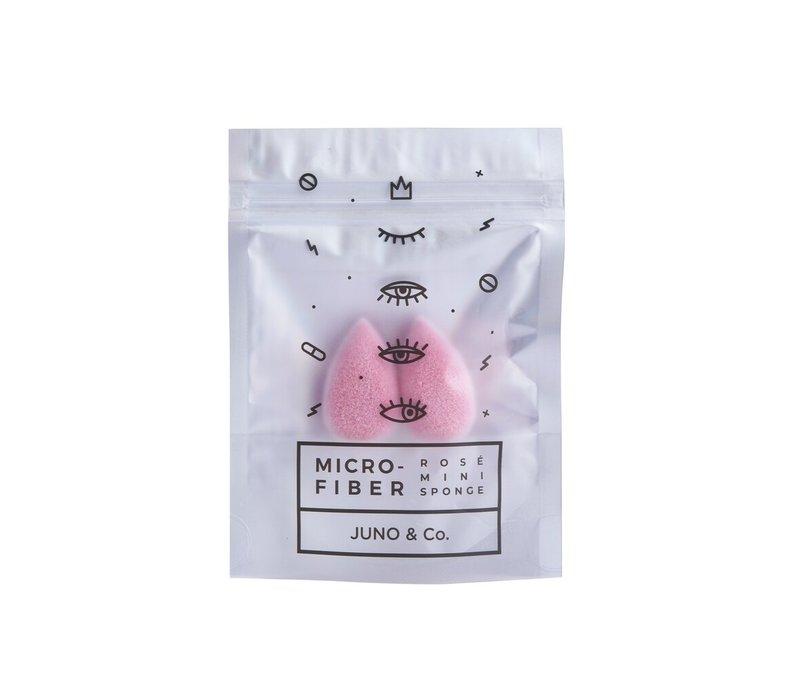 Juno & Co. Microfiber Rosé Mini Sponge 2 pack
