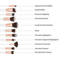 Boozyshop Rose Gold 24 pc Precision Makeup Brush Set