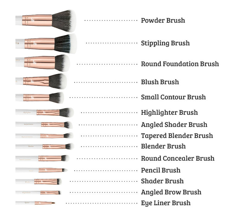 Boozyshop Rose Gold BoozyBrush 14 pc Starter Set