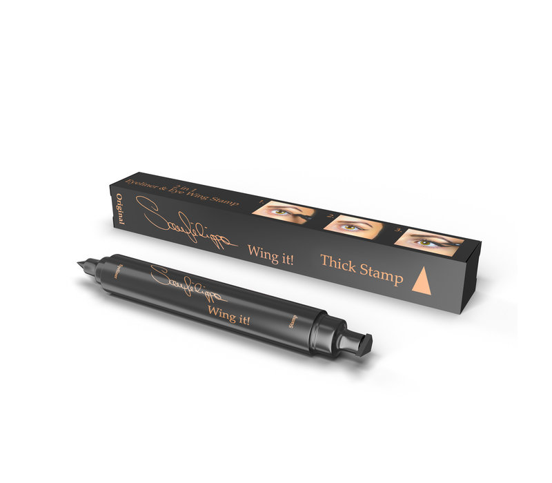 Sanfilippo Wing it! Eyeliner Thick Stamp Black