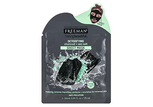 Freeman Sheet Mask Detoxifying Charcoal + Sea Salt