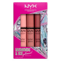 NYX Professional Makeup Diamonds & Ice, Please Butter Gloss Trio 01