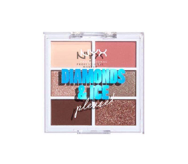 NYX Professional Makeup Diamonds & Ice, Please Eyeshadow Palette Diamond Delirious