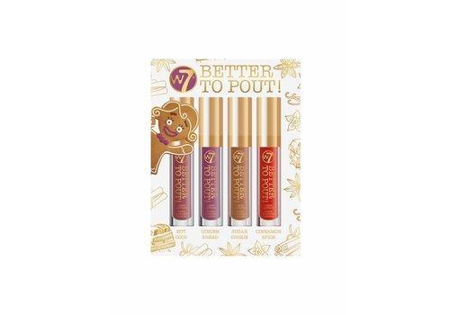 W7 Cosmetics Better to Pout! Liquid Lipstick Set