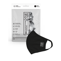 NEQI  Gesichtsbedeckung 3 Set Schwarz