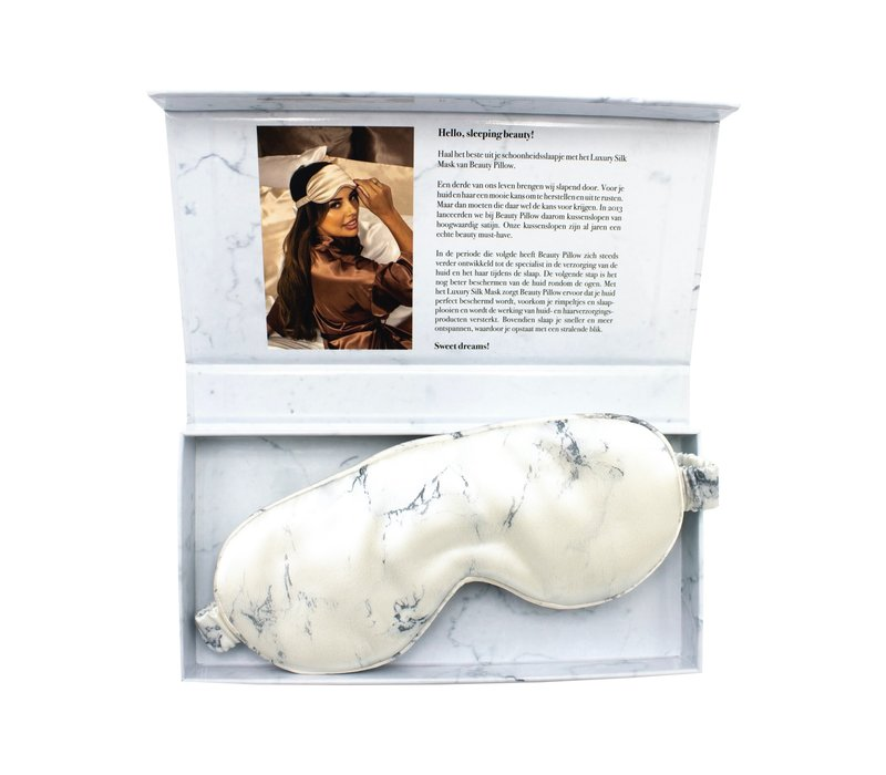 Beauty Pillow Luxury Silk Mask Marble