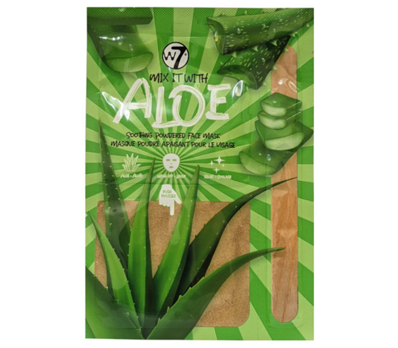 W7 Cosmetics Face Mask Soothing Powdered Mix It Aloe Vera