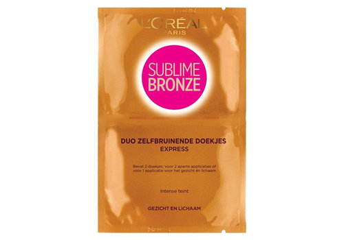 L'Oréal Paris Sublime Bronze Duo Self Tanning Wipes