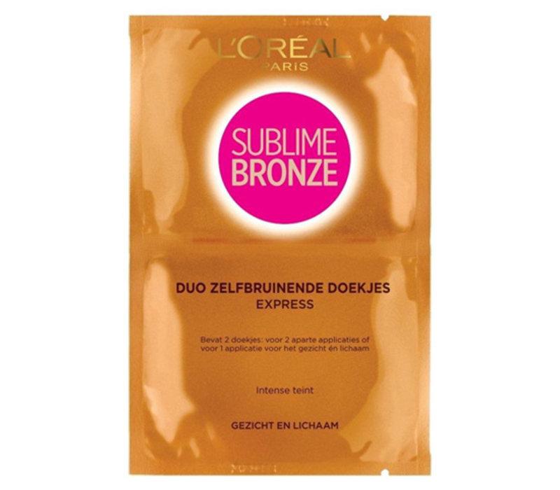 L'Oréal Paris Sublime Bronze Duo Self Tanning Wipes