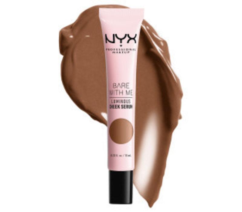 NYX Professional Makeup Bare with Me Luminous Shroombiotic Cheek Serum Tan Bronze