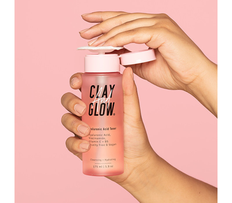Clay And Glow Hyaluronic Acid Toner