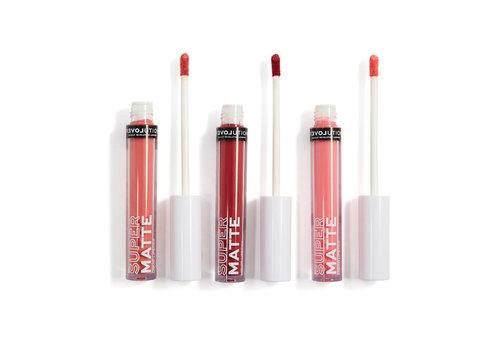 Revolution Relove Supermatte Liquid Lip Set Kiss