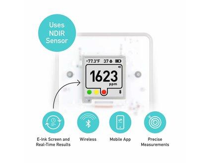 Aranet 4 CO2/T/RH sensor met bluetooth