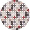 MixMamas Rond Tafelkleed Gecoat - Ø 140 cm - Grote Stip - Beige/Grijs
