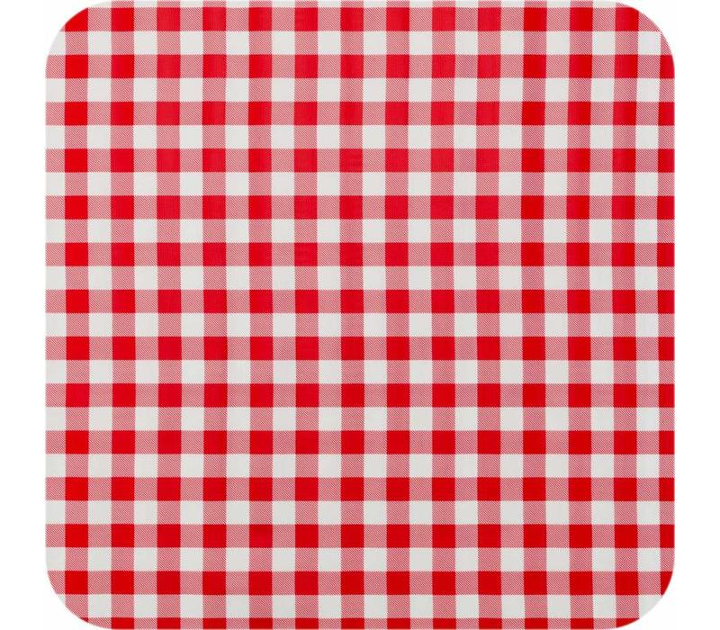 Mexicaans Tafelzeil Grote Ruit - Rol - 120 cm x 11 m - Rood