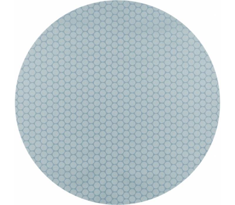 Rond Tafelkleed Gecoat - Ø 180 cm - Stippen - ton-sur-ton - Oceaan Groen