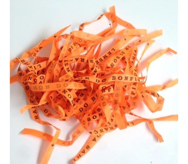 Bonfim lint - Set van 24 Bonfim Lintjes 43 cm - Oranje