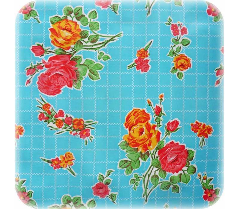 Mexicaans Tafelzeil Rozendal - 120 x 300 cm - Blauw