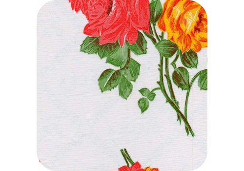 MixMamas Tafelzeil Rozendal - 120 x 300 cm - Wit