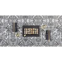 Mexicaans Tafelzeil Paraïso / Barok - 120 x 300 cm - Zwart