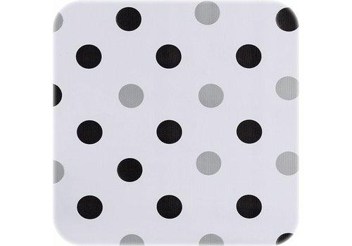 MixMamas Tafelzeil Confetti - 120 x 200 cm - Zwart/Zilver