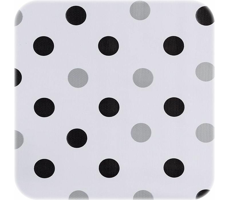 Mexicaans Tafelzeil Confetti - 120 x 300 cm - Zwart/Zilver