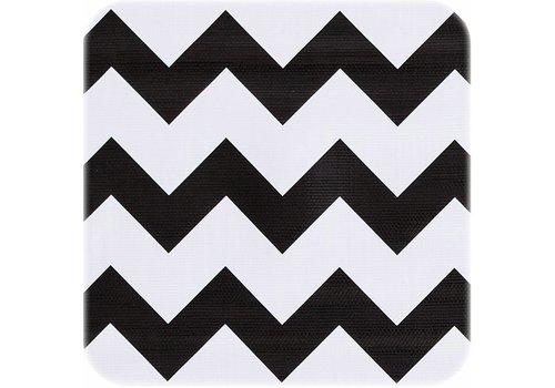 MixMamas Tafelzeil Zigzag - 120 x 300 cm - Zwart