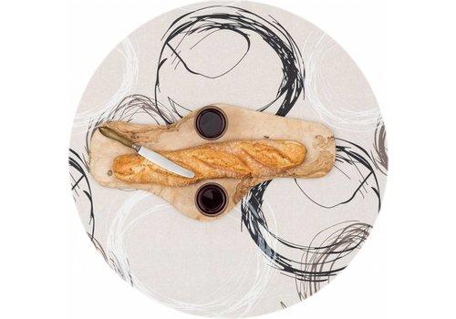 MixMamas Rond Tafelkleed Gecoat - Ø 140 cm - Painted Circles