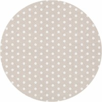 Rond Tafelkleed Gecoat - Ø 180 cm - Stippen - Beige/Wit