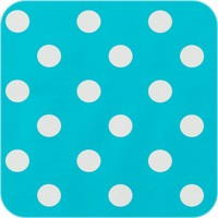 Tafelzeil Grote Stip - Rol - 140 cm x 20 m - Turquoise/Wit
