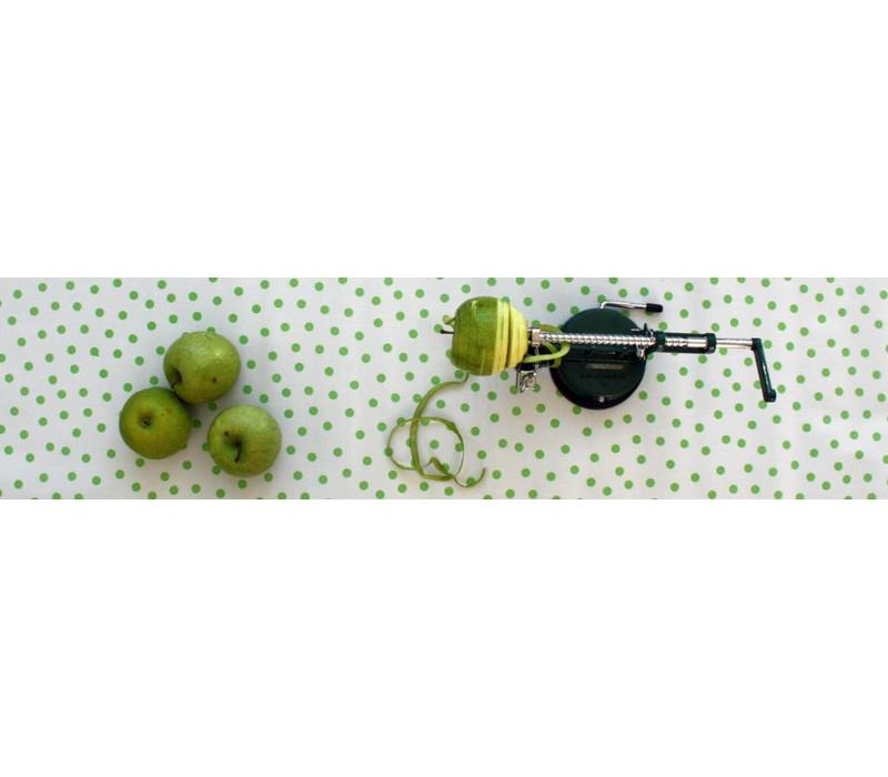 Mexicaans Tafelzeil Stippen - Rol - 120 cm x 11 m - Wit/Lichtgroen