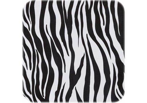 MixMamas Tafelzeil Zebra - Rol - 120 cm x 11 m - Zwart