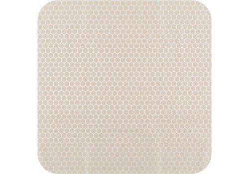 MixMamas Tafelkleed Gecoat Linnen Stippen - 140 x 250 cm - Beige/Crème
