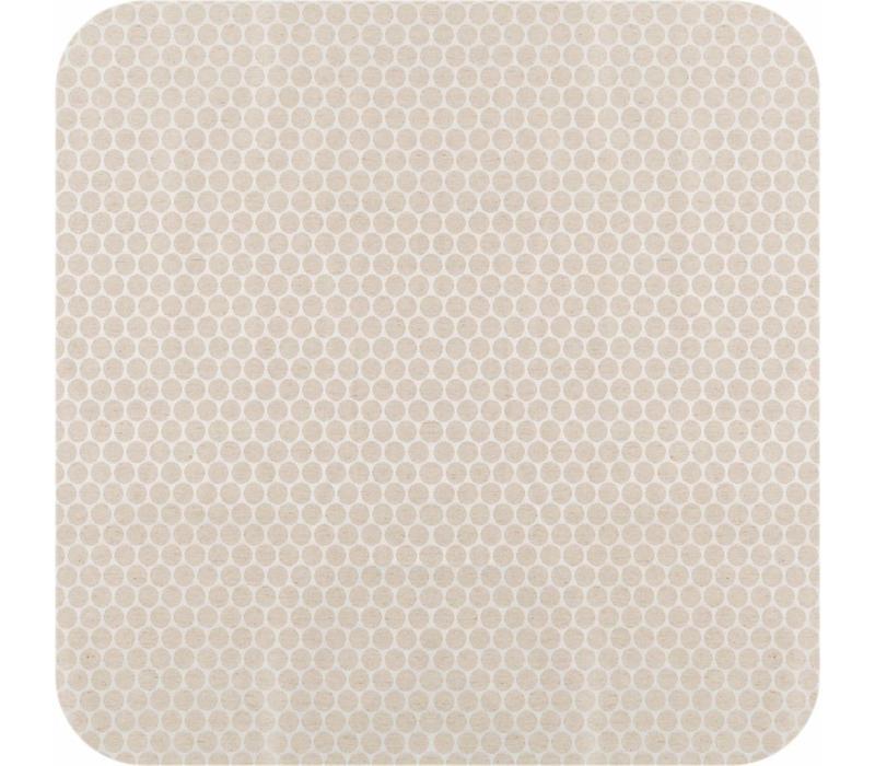 Tafelkleed Gecoat Jacquard Linnen Stippen - 140 x 250 cm - Beige/Crème