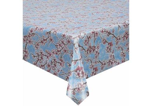MixMamas Tafelzeil Kersenbloesem - Rol - 120 cm x 11 m - Lichtblauw
