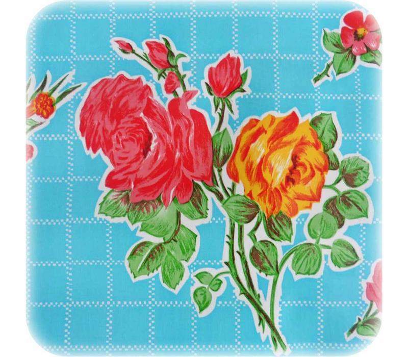 Mexicaans Tafelzeil Rozendal - 120 x 200 cm - Blauw