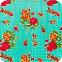 Mexicaans Tafelzeil Rozendal - 120 x 300 cm - Mintgroen