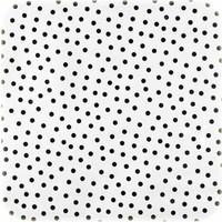 Mexicaans Tafelzeil Stippen - 120 x 300 cm - Wit/Zwart