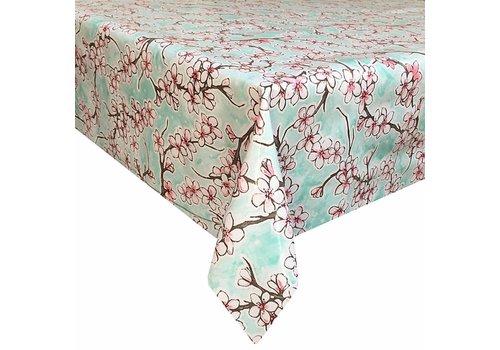 MixMamas Tafelzeil Kersenbloesem Vierkant - 120 x 120 cm - Mintgroen