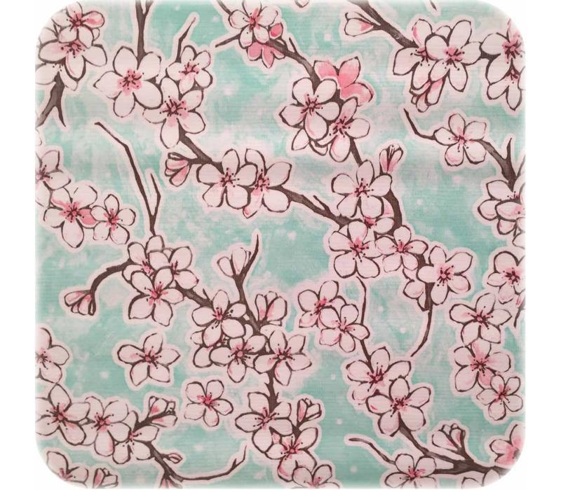 Mexicaans Tafelzeil Kersenbloesem - 120 x 200 cm - Mintgroen