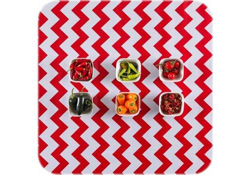 MixMamas Tafelzeil Zigzag - Rol - 120 cm x 11 m - Rood