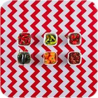 Mexicaans Tafelzeil Zigzag - Rol - 120 cm x 11 m - Rood